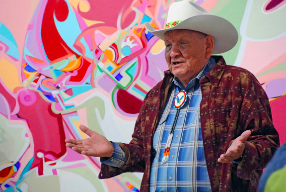 Alex Janvier was artist in residence at UBC Okanagan in October 2014.